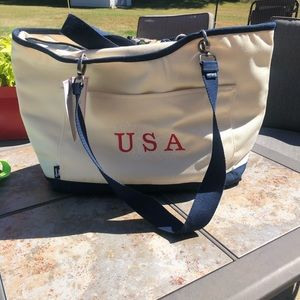 New Thirty One Canvas Crew Cooler Bag USA